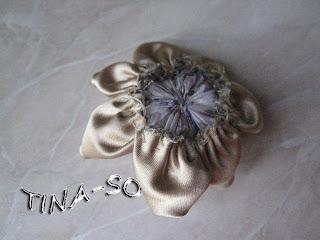 Делаем цветок-канзаши для игольницы