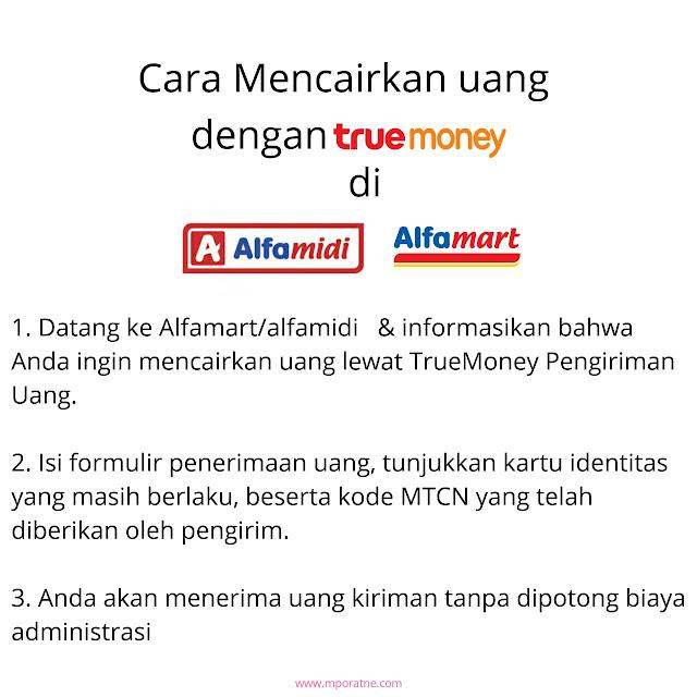 Cara mencairkan uang true Money