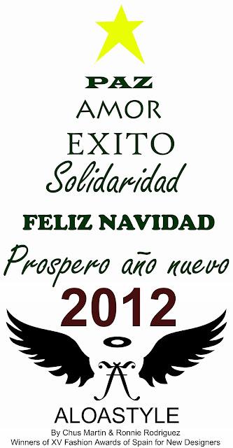 Feliz Navidad y prospero año nuevo 2012, que estas fechas os sirvan para recargar la positividad y así LUCHAR POR conseguir todos vuestros deseos en el 2012. ♥ FELICIDADES PARA TOD@S ¡¡ ♥