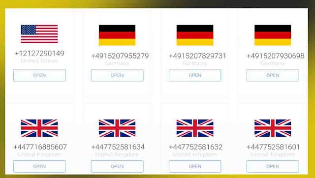 موقع receive-smss للحصول على ارقام مجانية لاستقبال الرسائل و تفعيل الحسابات