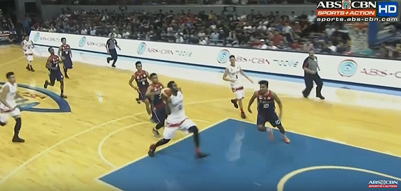 San Beda's Donald Tankoua MONSTER Slam Against Letran (VIDEO) NCAA Season 92