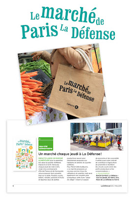 Clod illustration Le marché de Paris La Défense Defacto