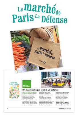 Clod illustration Le marché de Paris La Défense Defacto