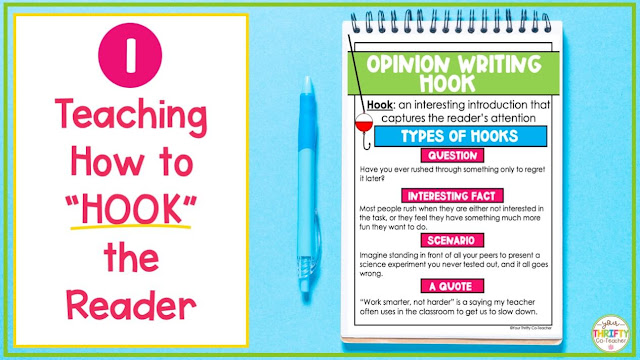 Hooks for introduction paragraphs opinion writing for 4th grade.