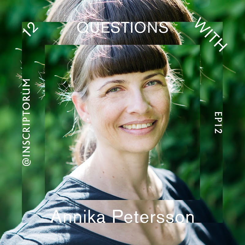 Annika Petersson – lettercutter, letterer, designer – answers 12 questions relating to the creative process