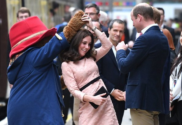 Prince William, Duchess Catherine and Prince Harry attend ...