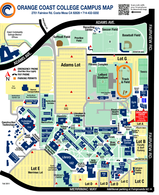 Mesa College Map : college, Orange, Coast, College, Campus, Maping, Resources
