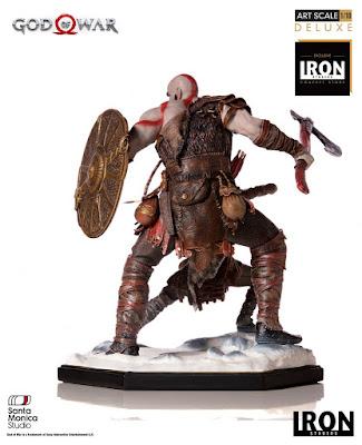 "Figuras: Imágenes y detalles de Kratos & Atreus 1/10 de ""God of War"" - Iron Studios"