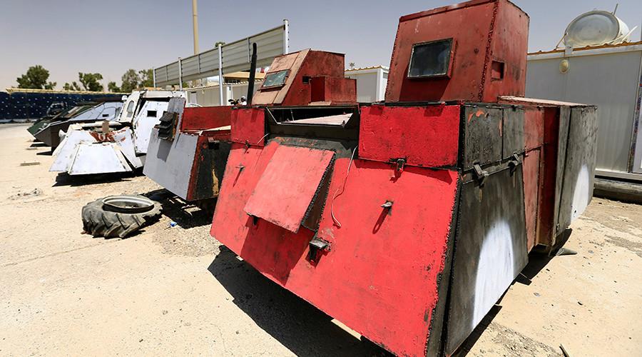 © Thaier Al-Sudani — Source: Reuters— Un véhicule avec tourelle