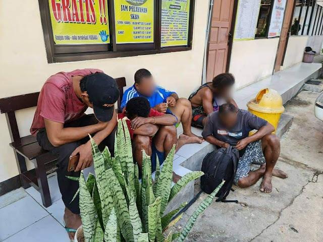 Polisi Amankan Lima Pria Curi Kabel Tembaga PT. Telkom