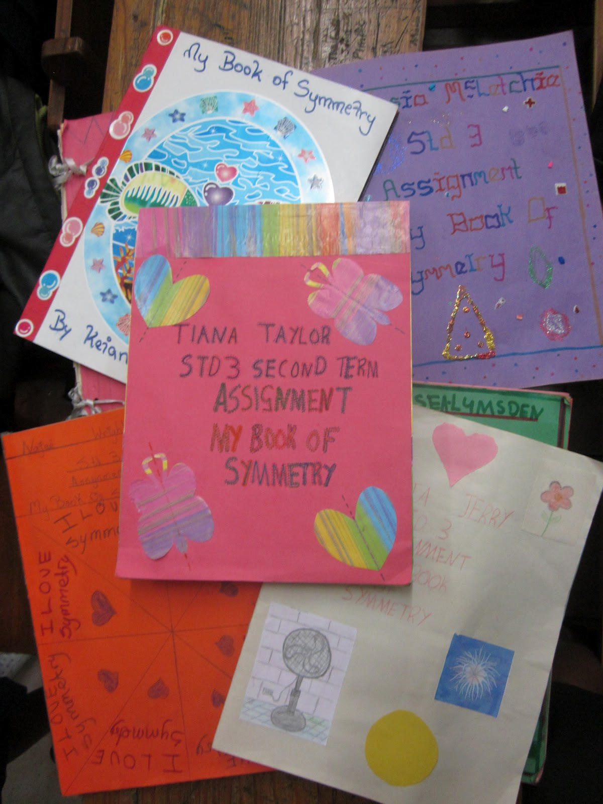 Nyla S Crafty Teaching Symmetry Book Making Project For