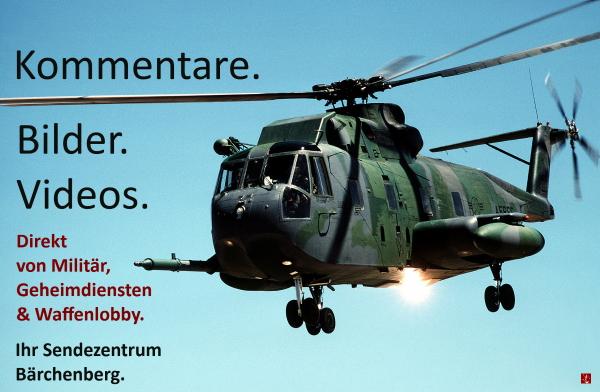 TV-Satire, Nachrichten von ARD, ZDF, WDR, NDR, Sendezenrum Lerchenberg, Parodie öffentlich-rechtliche Sender, Militär, NATO
