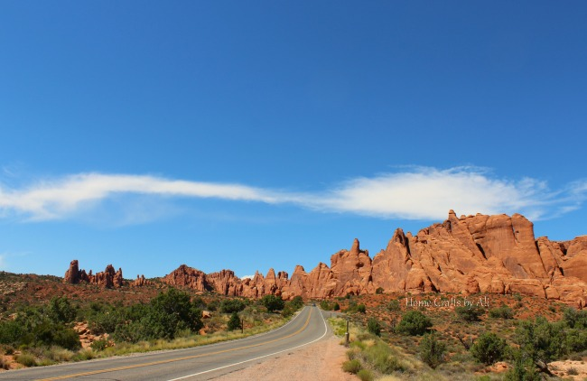 Arches national park utah landscape red rock