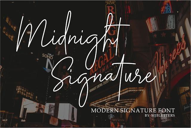 Midnight Siganture Download Font Free