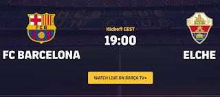 بت مباشر لمباراة برشلونة Vs ألتشي اليوم,البطولة : كأس جوهان غامبر 19.09.2020