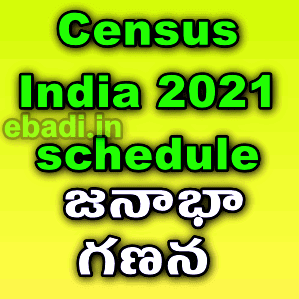 Census India 2021 schedule - model enumeration model copy