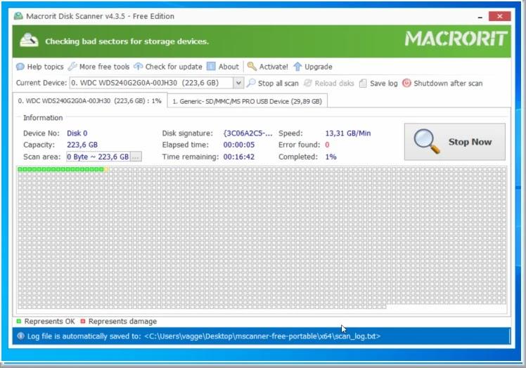 Macrorit Disk Scanner : Ελέγξτε τους σκληρούς σας δίσκους για κατεστραμμένους τομείς