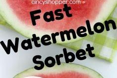 Fast Watermelon Sorbet