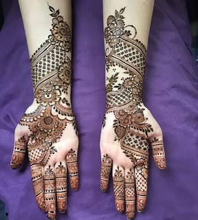 Sweet_net_with_flowers_mehndi_design_for_eid