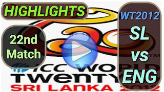 SL vs ENG 22nd Match