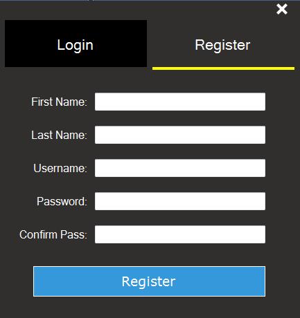 c# register form design