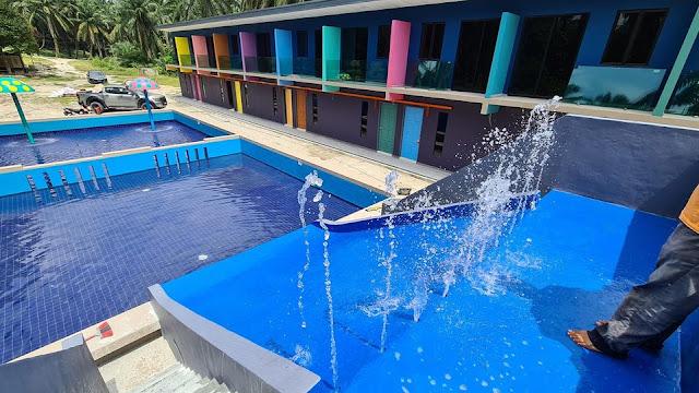 Swimming Pool Yang terdapat di Villa Redan Homestay
