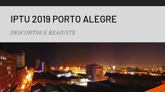 IPTU DE 2019 DE PORTO ALEGRE