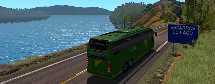 Ônibus na versão Bus do Mapa EAA
