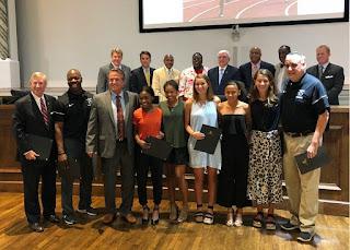 Montgomery Catholic Girls Track and Cross Country Team Recognized by Mayor Strange 1