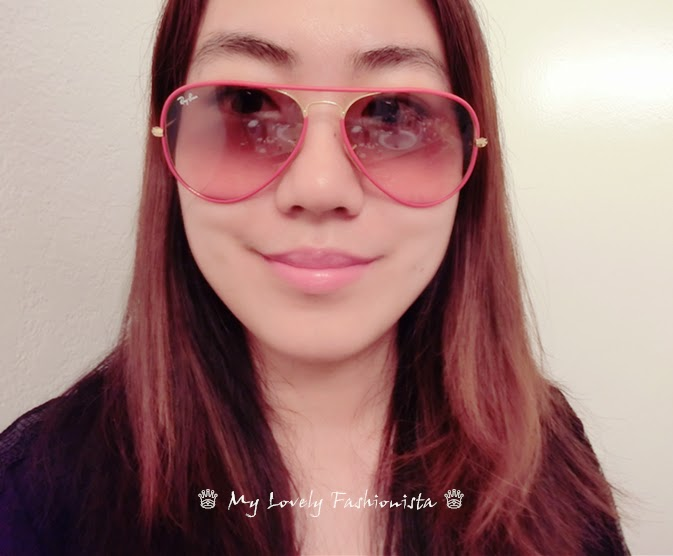 pink ray ban aviators 5y7a  ray ban mirror lens pink brown hair