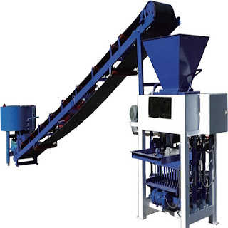 QT4-40 Semi-Automatic Concrete Block Making Machine