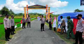 Polres Sinjai Kunjungan Kerja di Bulupoddo Sekaligus Cek Kampung Tangguh di Lamatti Riaja