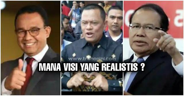 Anies, Gatot maupun Rizal Ramli, mereka hanyalah orang-orang yang terikat dengan sistem. Sehebat apapun figur, jika menerapkan sistem sekuler pastilah tidak akan mampu menghadapi kuasa kapital dan kendali oligarki politik yang menjadi ciri khas demokrasi.