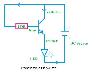 transistor as switch