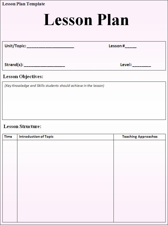 week long lesson plan template - marissa 39 s mark