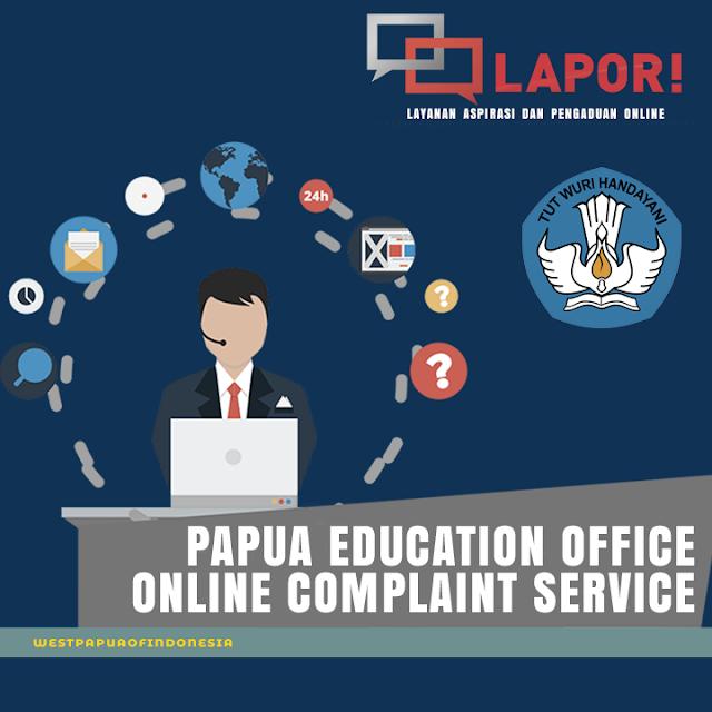 Disdik Papua provides online education service complaints