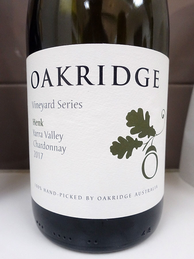 Oakridge Vineyard Series Henk Chardonnay 2017 (91 pts)