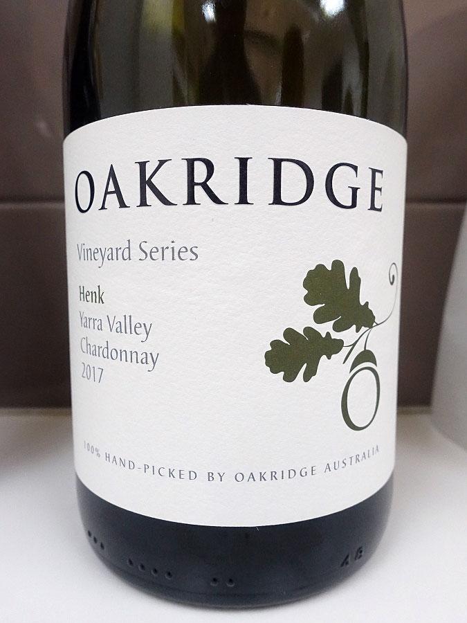 Oakridge Vineyard Series Henk Chardonnay 2017 (91 pts)