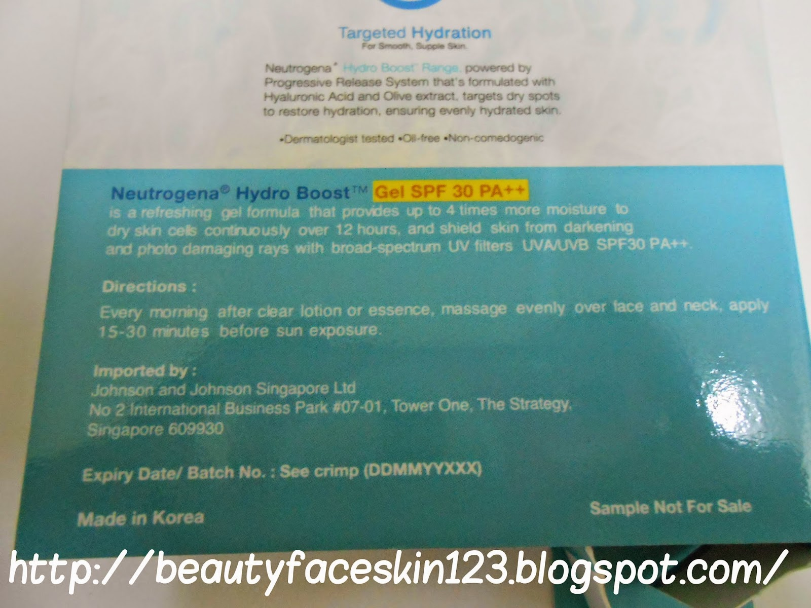 NEUTROGENA HYDRO BOOST GEL SPF30 PA++