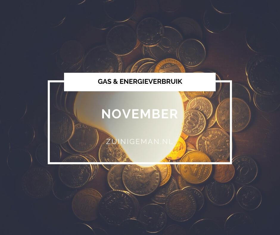 Gas en energieverbruik van november