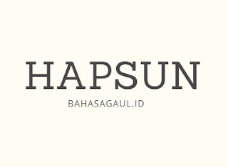 Arti Hapsun dalam Bahasa Gaul, Ternyata ini Artinya Hapsun