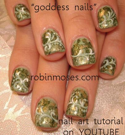 Nail Art By Robin Moses Goddess Nails Greek Goddess Nails