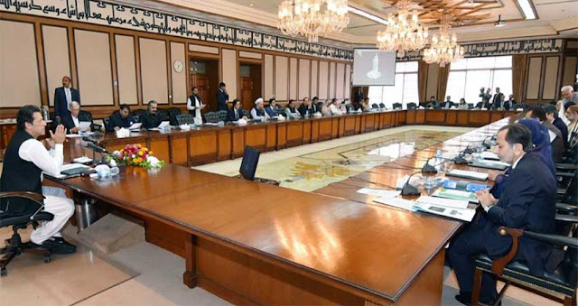 Prime Minister Imran Khan taking federal cabinet into confidence about his China's trip - File Photo
