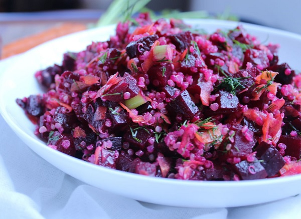 How to make beet and quinoa salad