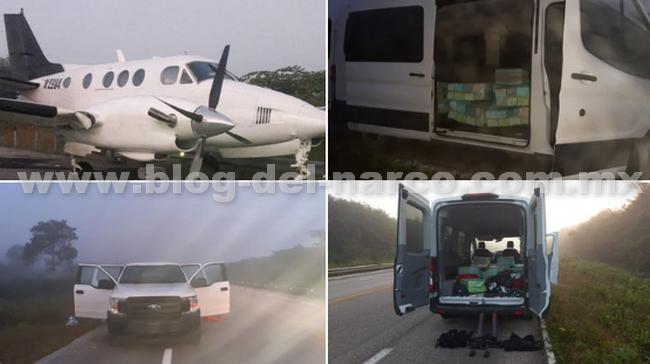 Avioneta que aterrizó en Bacalar era de sudamérica y transportaba una tonelada de cocaína