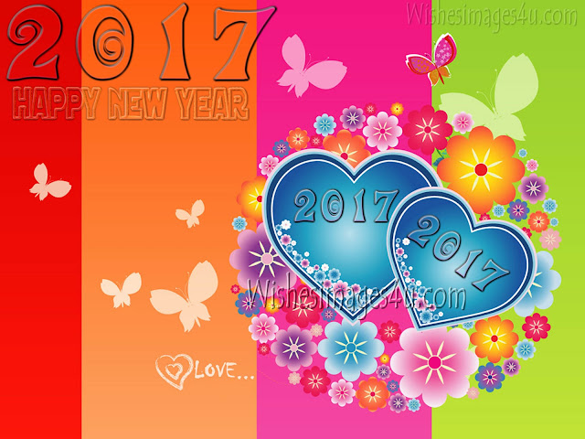 New Year 2017 Love Photo Greetings Download