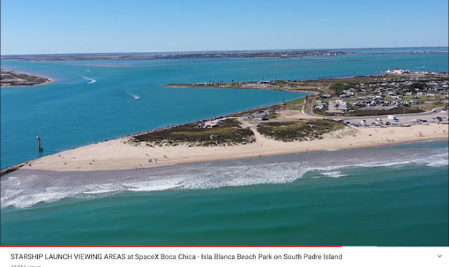 Aerial view of viewing locations on tip of South Padre Island (Source: @Spadre)