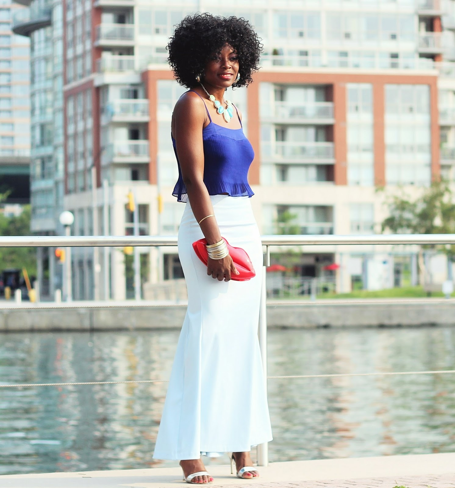 BLUE ON BLUE | CROP TOP x FISH TAIL MAXI SKIRT