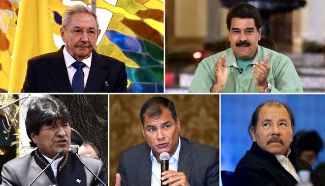 Rafael Correa Nicolas Maduro Daniel Ortega