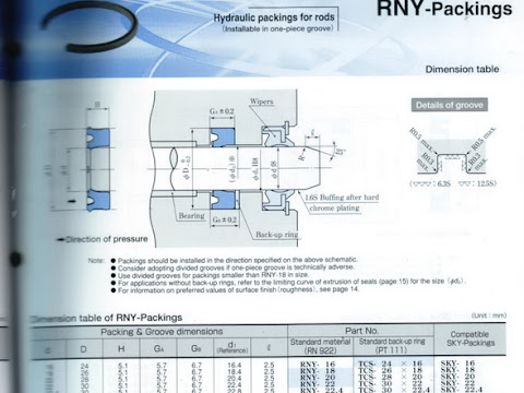 Sakagami GNY Seal Hydraulic Packing for Rods